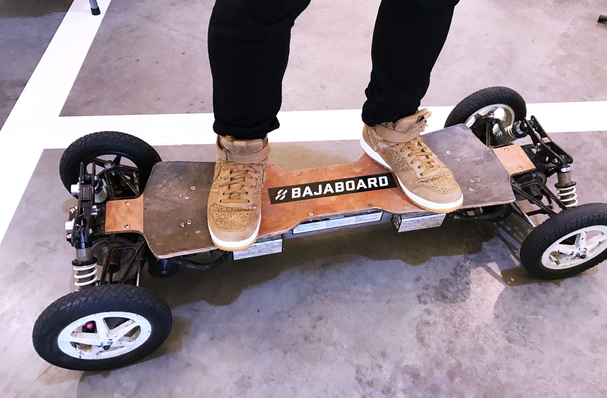 My rad kicks on a motorised skateboard. copy